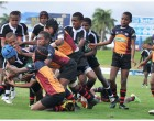 Cakau Upset The Rewa Galaxy Kaji Rugby tournament kicked off yesterday with an early upset in the first round of games