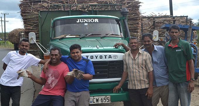 Labasa Cane Truck Drivers Happy