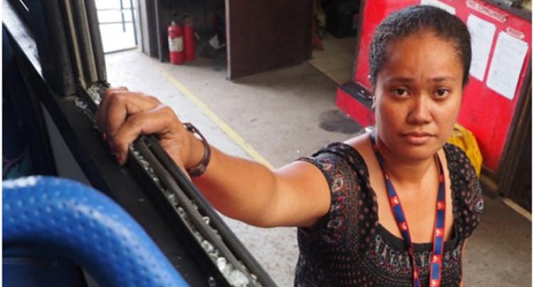 Passenger hurt in bus stoning