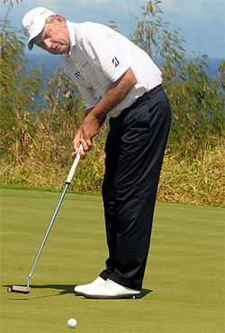 Former world number one Nick Price during practice yesterday. Photo: Waisea Nasokia