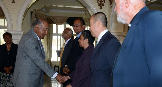 President Receives Writ Of Elections From Commission