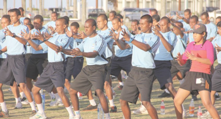 200 Police Recruits In Morning Walk