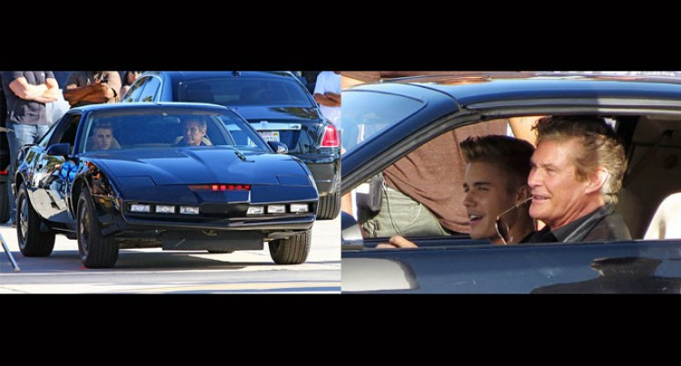 Justin Bieber Gets The Knight Rider Experience