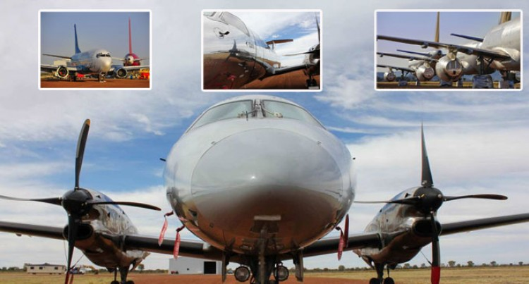 Outback Plane Graveyard At Alice Springs Welcomes First Arrivals