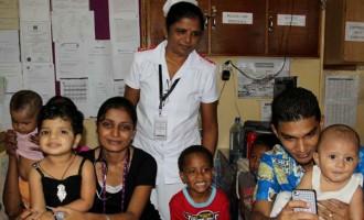 Govt Officials Visit Sick Children