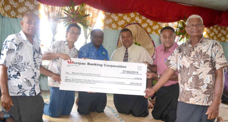 Bua Mataqali Receives Payment