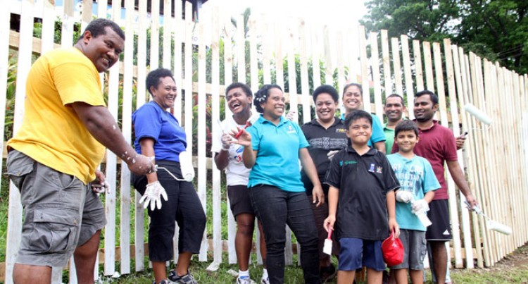 UN Fiji Staff Clean Up At Dilkusha Home