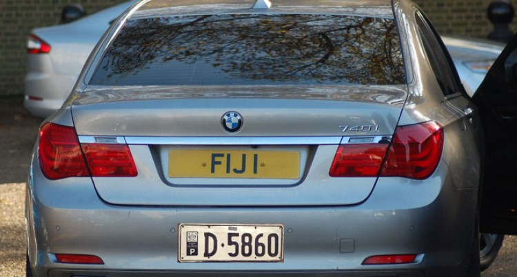 Following Number Plate Regulations