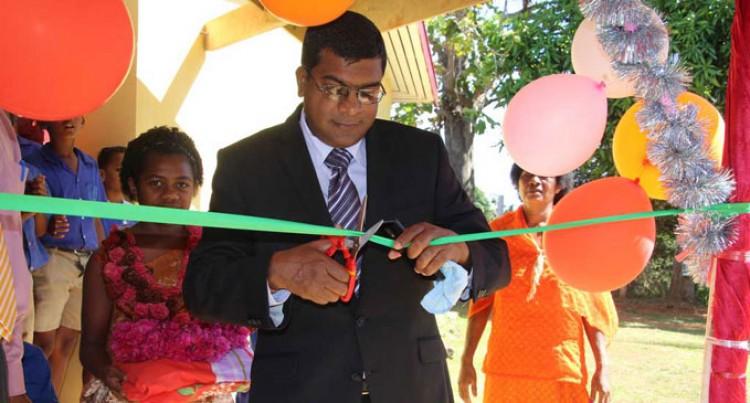 Education Minister Opens School Walkway
