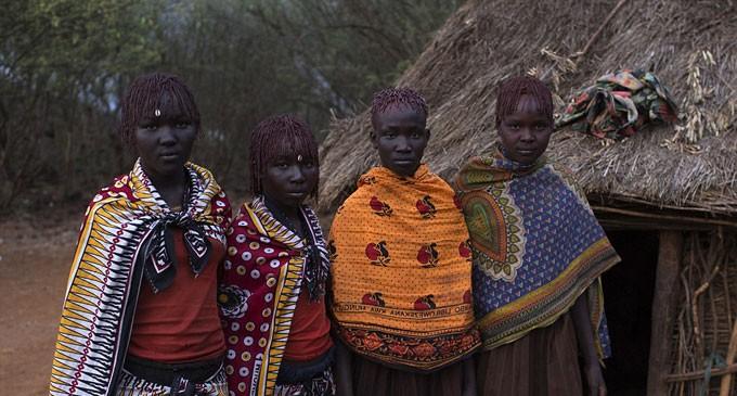 Tribal Circumcision Ceremony In Kenyan Village