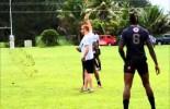 Fiji 7s Team Training At Uprising Resort, Deuba