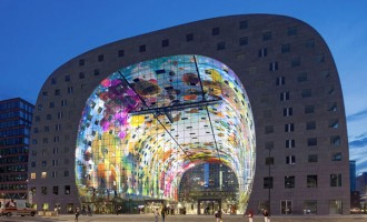 36,000 Sq Ft Mural Decorates This Newly-Opened Market Hall In Rottedam
