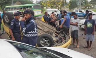 Vehicle Tumbles In Nabua