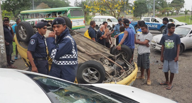 Vehicle Tumbles In Nabua