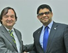 Chilean Ambassador Negri Pays Courtesy Call
