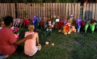 Murdered Children's  Family Grieve