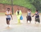 Travellers Stranded Road Flooded