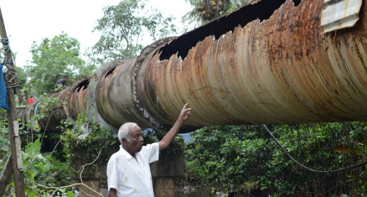 Authority Works To Fix Exposed Waste Pipe