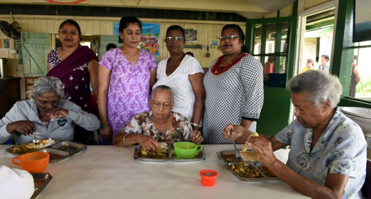 Senior Citizens  Get Lunch Treat