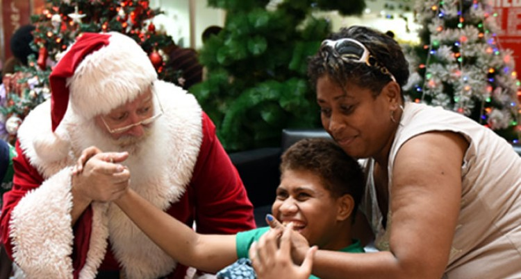 Kids Greet Santa