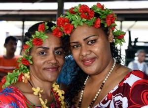 Suva Market Vendors Celebrate Christmas. Photo: Rama