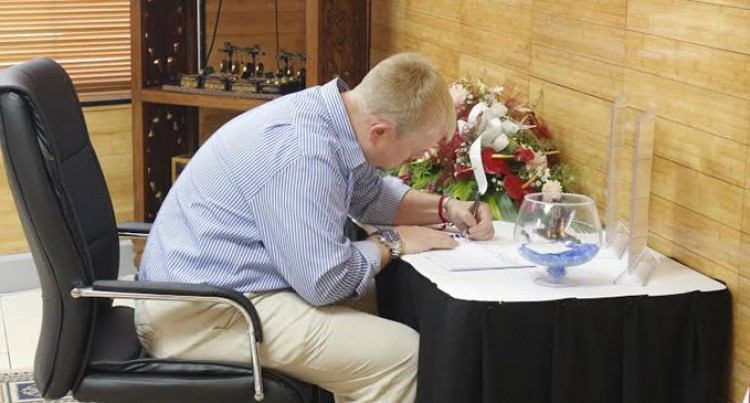 Condolence Book Signing