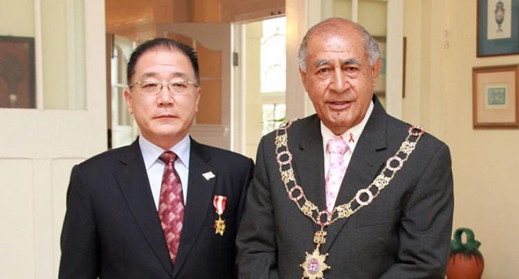 Fiji Honours Chinese Envoy