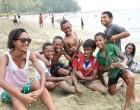 Youth Group Celebrates At Deuba Beach