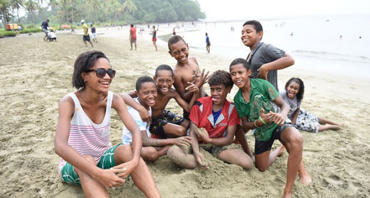Youth Group Celebrates At Deuba Beach