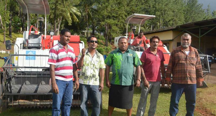 North Farmers Receive Rice Harvester