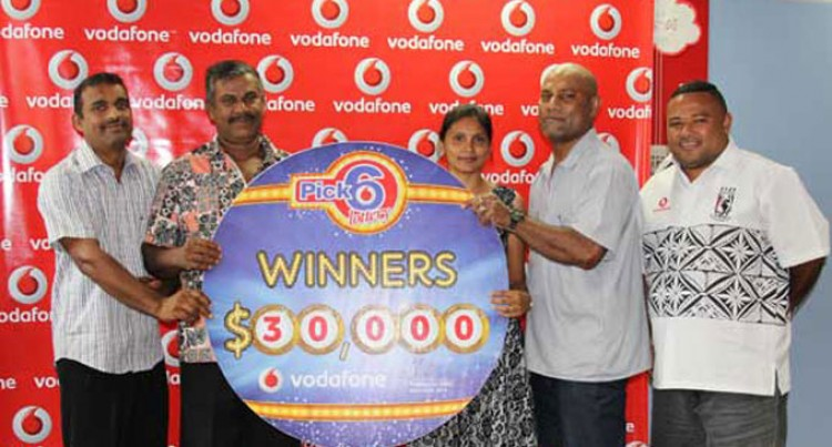 Four Win With Vodafone's Pick 6 Lotto