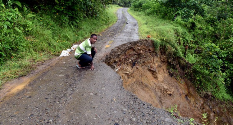 Landslide Cuts Off  Villages