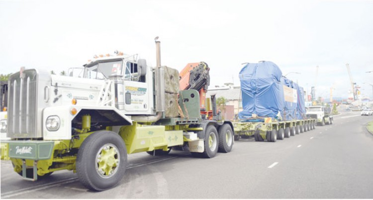 Four New Diesel Generators Here For Kinoya Power Plant