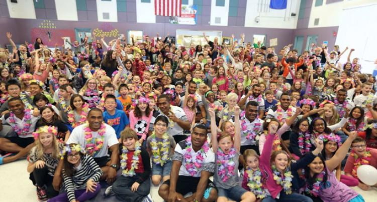 Young Fiji Fans In Vegas