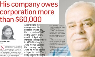 RIGHT OF REPLY: I Paid Debt: Beddoes