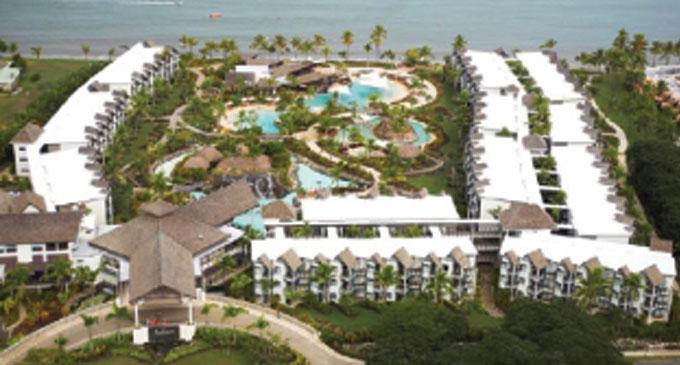 An aerial view of the Radisson Blu Resort Fiji.