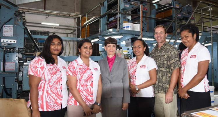 US Ambassador Visits Fiji Sun