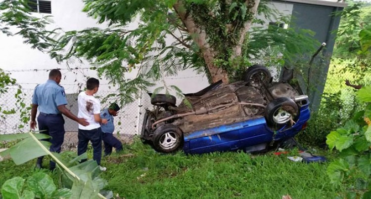 Lucky Escape For Driver, Passenger