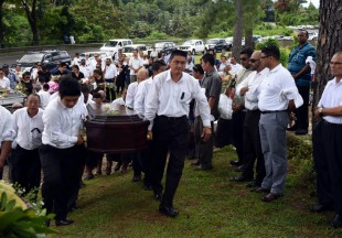 Holland Seeto's Funeral Service. Photo: Rama