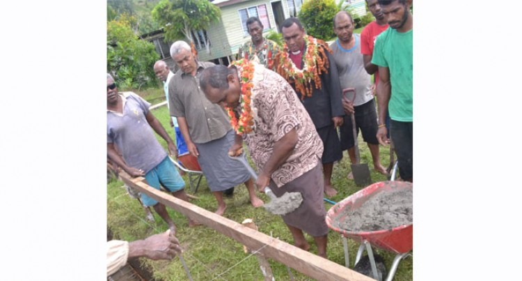 Aust Aid Funds Hall For Village