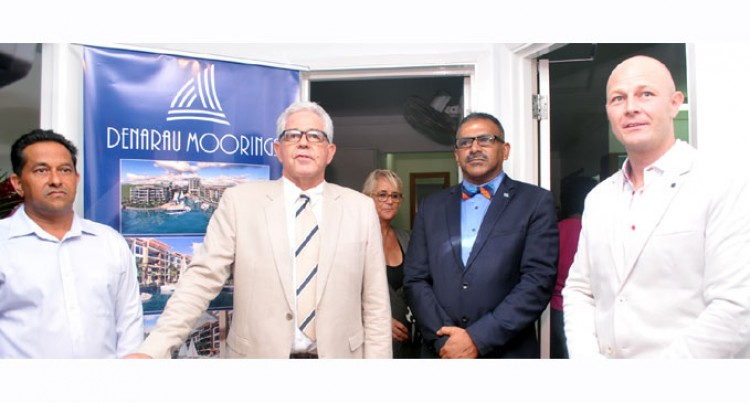 Minister Launches Denarau Mooring Project
