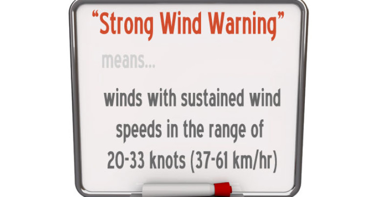 WEATHER UPDATE: Strong Wind Warning