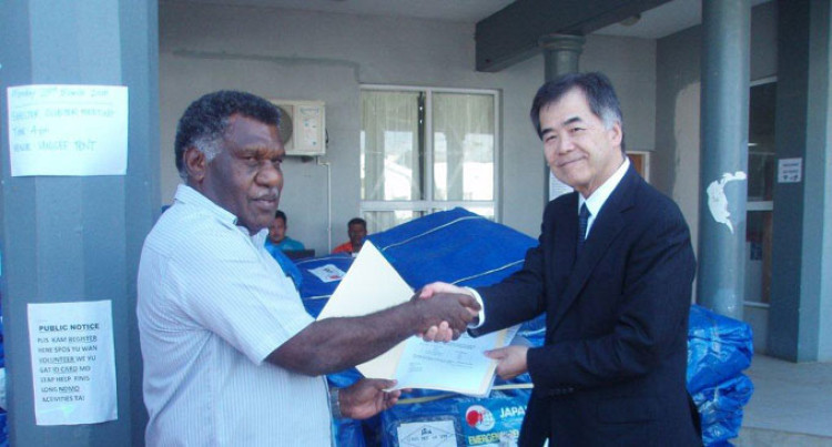 Japan donates Tents, Sleeping Pads, Sheets