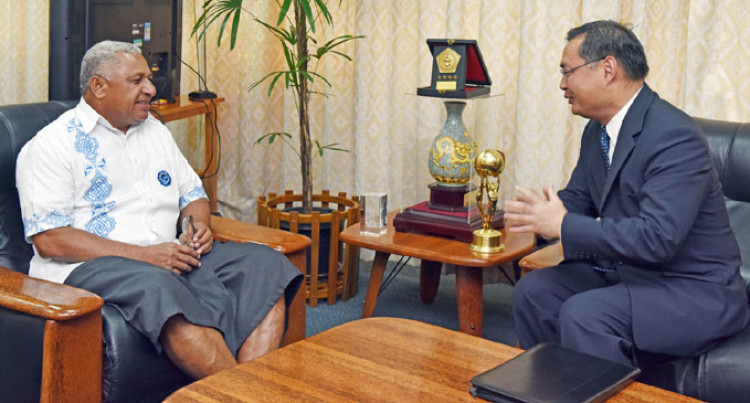 Prime Minister Meets New Chinese Envoy To Fiji