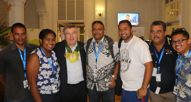 IOC President Arrives For ONOC Meet