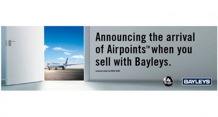 Bayleys Links Up With Air NZ Airpoints Programme