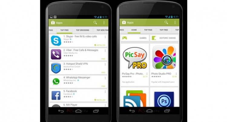Google's Android Search Uninstall Apps Content