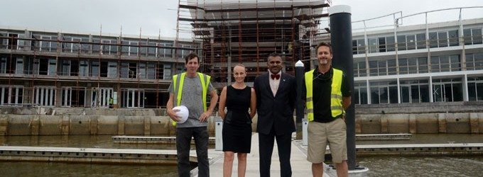 Pearl Construction Works Ahead Of Schedule
