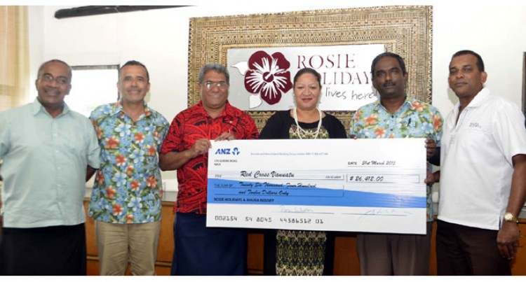 Rosie Travel Group Donates $26k For Vanuatu