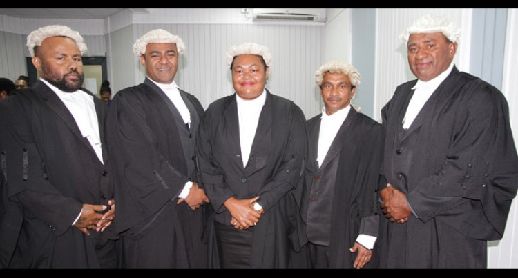 Five Admitted To Bar